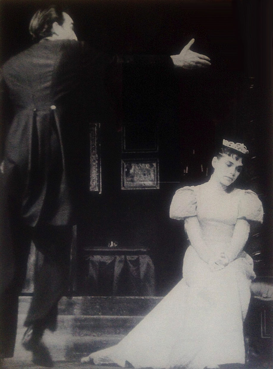 Anne Fielding and Paul Stevens in Chekov's Ivanov, Renata Theatre, 1959, photo by Anthony Armstrong Jones. Ms. Fielding's Obie award winning role. Appeared in British Vogue.