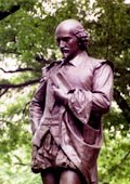 Statue of William Shakespeare in New York's Central Park by John Quincy Adams Ward, 1872