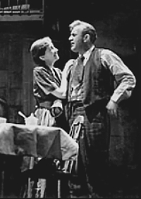 Mildred Dunnock and Lee J. Cobb as Linda and Willy Loman